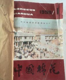 中国棉花(双月刊)  1990年(1-6)期  合订本  (馆藏)