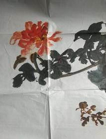 张大千 花卉 印刷品