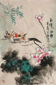 【保真】实力派画家天语作品:百年好合