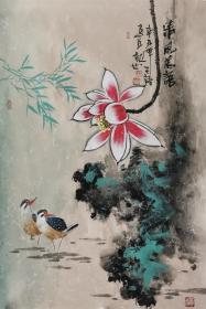 【保真】实力派画家天语作品:清风花语