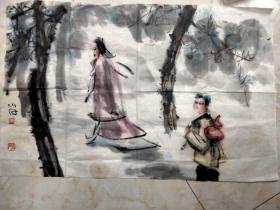 傅小石国画一副 傅小石著名画家