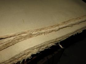 民国 本色 纯楮皮纸 140张 厚