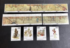 专94 1973年 汉宫春晓图古画邮票 全套 原胶无贴上品,微微黄