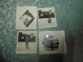 黑白老照片4张