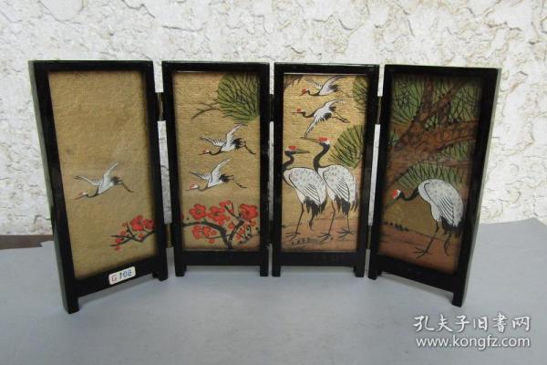 八十年代福州漆器小围屏