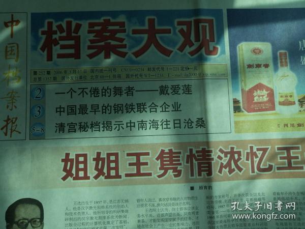 中国档案报(档案大观2006.3.17第252期)