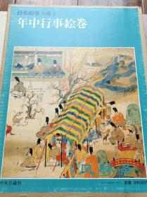 日本绘卷大成8 《年中行事绘卷》宫殿落成之隆重庆祝 17世纪摹本 精彩线描