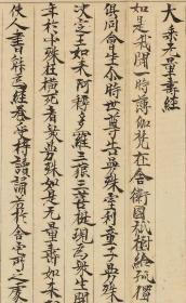 1888敦煌遗书 大英博物馆 S1869莫高窟 佛说无量寿宗要经手稿。纸本大小28*275厘米。宣纸艺术微喷复制。230元包邮