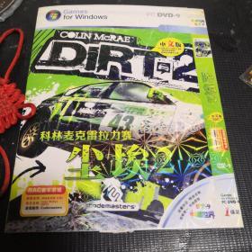 游戏光盘 PC DVD-9-1碟装中文版,科林麦克雷拉力赛、尘埃2 赛车游戏