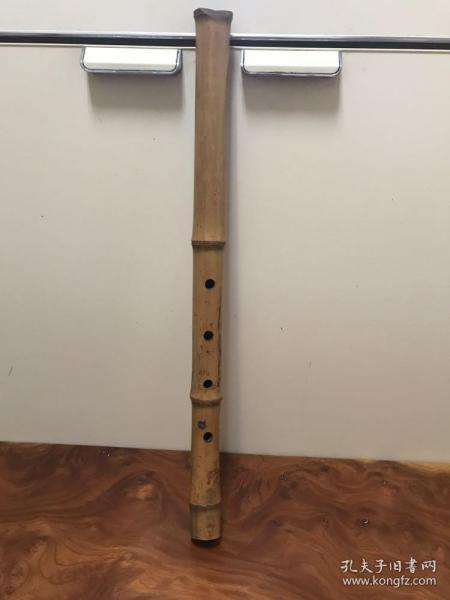 H-0386 日本回流美术 古乐器日本老尺八/长55厘米