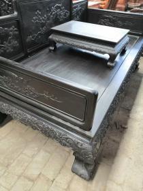 古董传世老家具清代小叶紫檀罗汉床古董木器明清家具