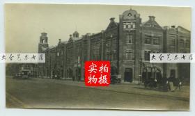 1919年11月东北满洲辽宁沈阳奉天沈阳站前南北大街~现在的中山路胜利大街一带。10.2×5.8厘米, 泛银。
