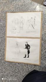 """名人字画;手绘画稿服装设计原稿""""外国人物"""""""