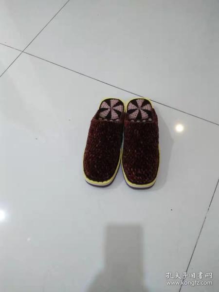 手工编织拖鞋(特大号)咖啡色【适合45~46码】(包邮)
