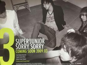 韩国原版 Super Junior 《Sorry, Sorry》 专辑  官方海报
