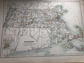 1895年 美国马萨诸塞州地图