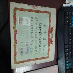 1961年 山东省济南第十八中学 毕业证书8-304