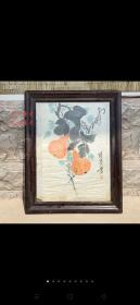 现代著名画家张锡武手绘字画一幅,一九二七年生。河北河间人。擅年画、连环画,。画工精美,保存完整,成色如图,尺寸如图