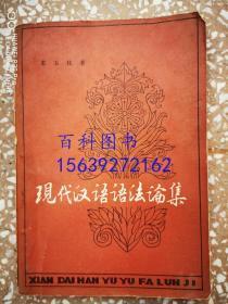现代汉语语法论集
