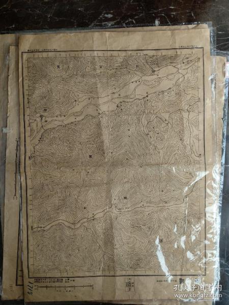 四川省。德昌县地图。民国