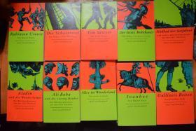 德文版 世界名著小说读本系列  共10册,32开厚册品好!  不懂德语10元一本便宜出!