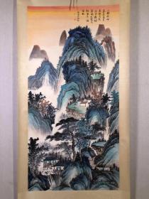 吴湖帆,画心68×138,百分百纯手绘,手工精裱,编号老画8781