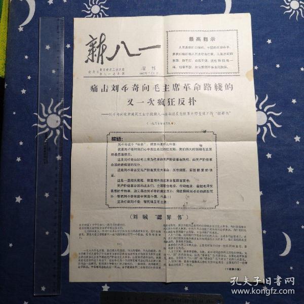 《新八一》增刊:痛击刘**向毛主席革命路线的又一次疯狂反扑