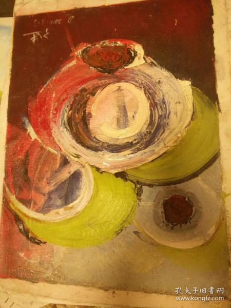大幅、《美院》油画33+43纯手绘的