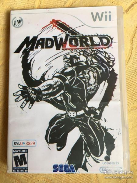 Wii游戏 疯狂世界 游戏光盘
