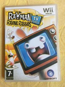 Wii游戏 雷曼 疯狂兔子 TV Party 美版 游戏光盘