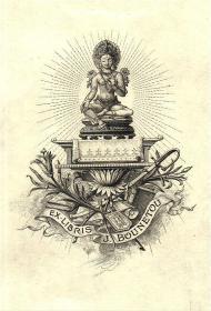 A von Dachenhausen雕刻铜版藏书票原作