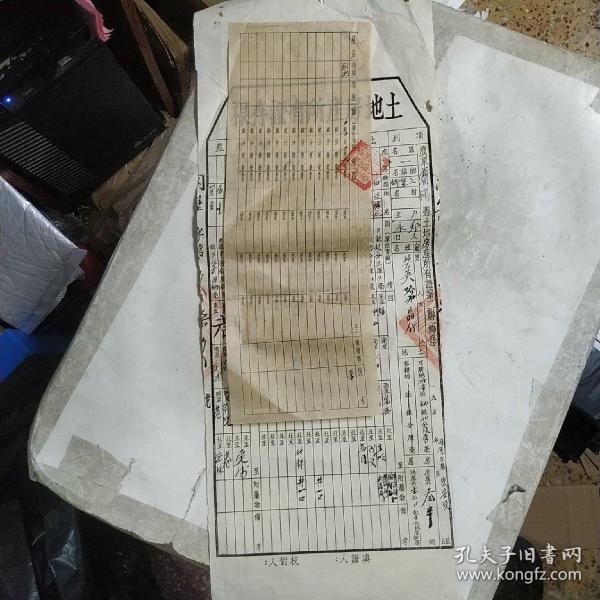 土地房产所有证存根(50年代广东省潮阳县)