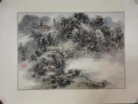 中国书画报画家 柯老精品山水小品 镜片 原稿手绘真迹 永久保真