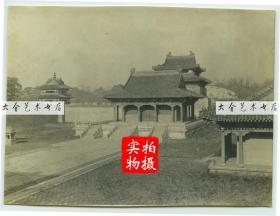 1919年11月东北满洲辽宁沈阳奉天北陵昭陵。10.5×7.8厘米, 泛银。
