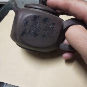 梅兰竹菊紫砂壶