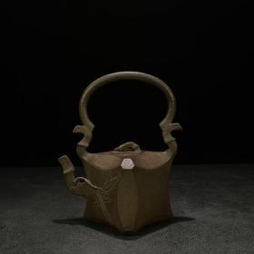 菱形竹提梁壶
