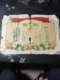 蒙文奖状,60年代