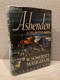 Ashenden(毛姆《英国间谍阿兴登》,布面精装毛边本,带护封,1941年老版书,带别致藏书票)