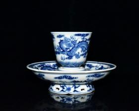 《精品放漏》雍正 龙纹茶盏——清