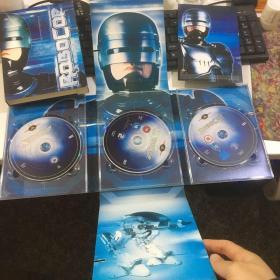 DVD光盘 美版3碟装 :ROBOCOP 机械战警 全套(铁甲威龙)极为罕见 盒装有瑕疵,光盘没问题