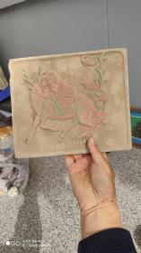 陶器;画像砖一块神仙图案