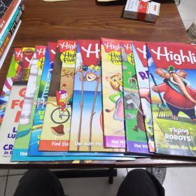 Highlights HIGH FIVE 儿童读物杂志2018年八册2017年一册2019一册《十册合售》
