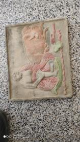 砖雕;砖雕神话故事人物和动物彩绘
