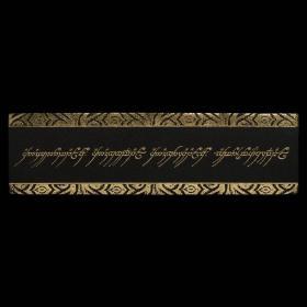 预售weta指环王魔戒指环铭文皮质书签LEATHER BOOKMARK: THE ONE RING INSCRIPTION