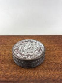 赔钱处理盘龙老铜盒A5432.