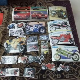 摩托车和汽车粘贴(19张)