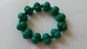 老绿松石手链1.8厘米,完整