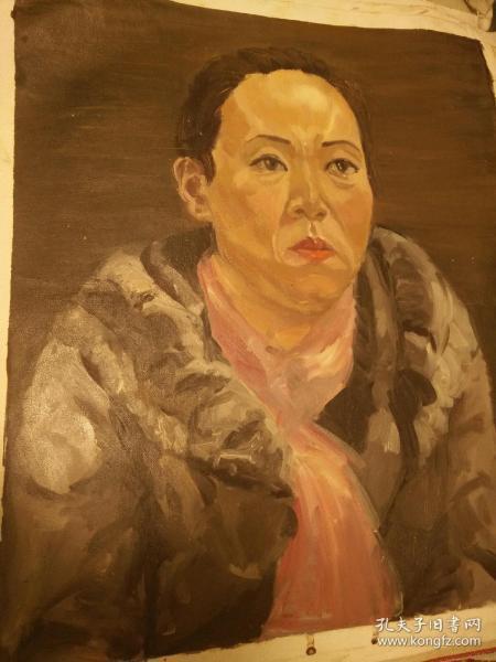 大幅、《美院》油画70+60纯手绘的