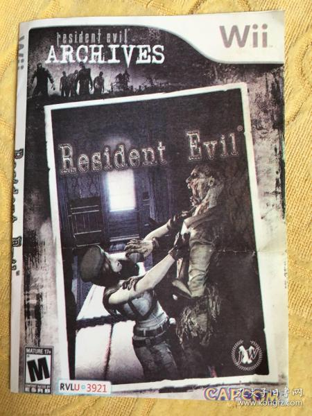 Wii游戏 生化危机 resident evil 游戏光盘