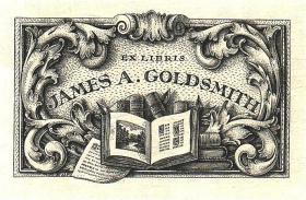 美国藏书票黄金时期五大师之弗伦奇雕刻铜版藏书票原作1